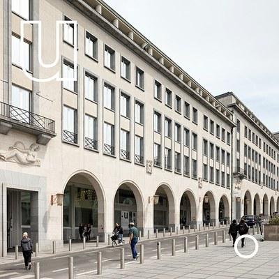De kantoren van urban.brussels gelegen Kunstberg 10-12 te 1000 Brussel