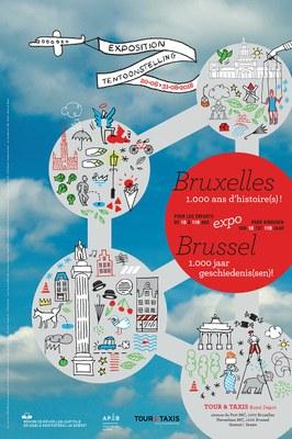 Affiche tentoonstelling Brussel. 1.000 Jaar Geschiedenis(sen)!