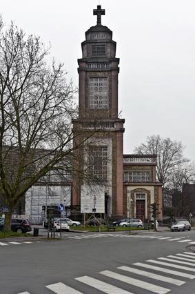 Kerk bij aanvang van de restauratiewerken