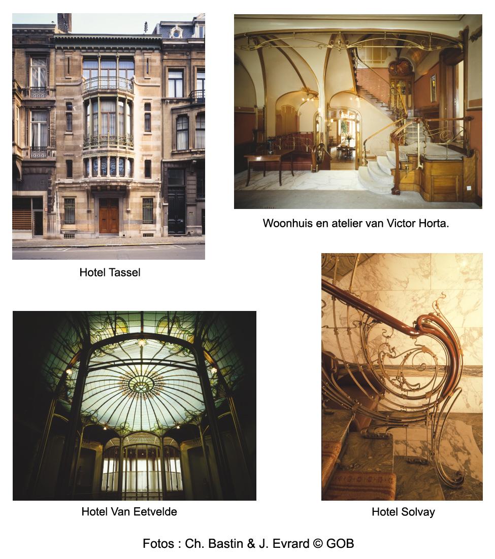 Belangrijkste woningen van Victor Horta