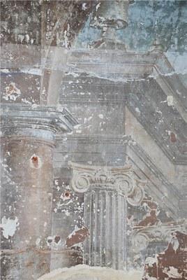 Fragment van het fresco in de kloostergang © Urban.brussels